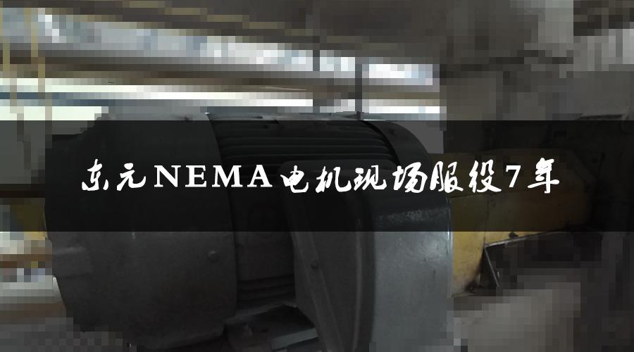 东元NEMA电机服役7年,运行状态良好,现场检测运行状态