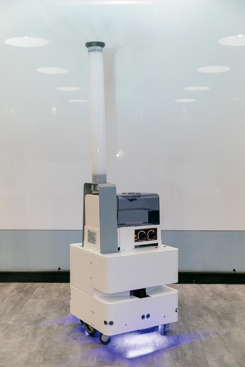 东元智慧防疫机器人亮相