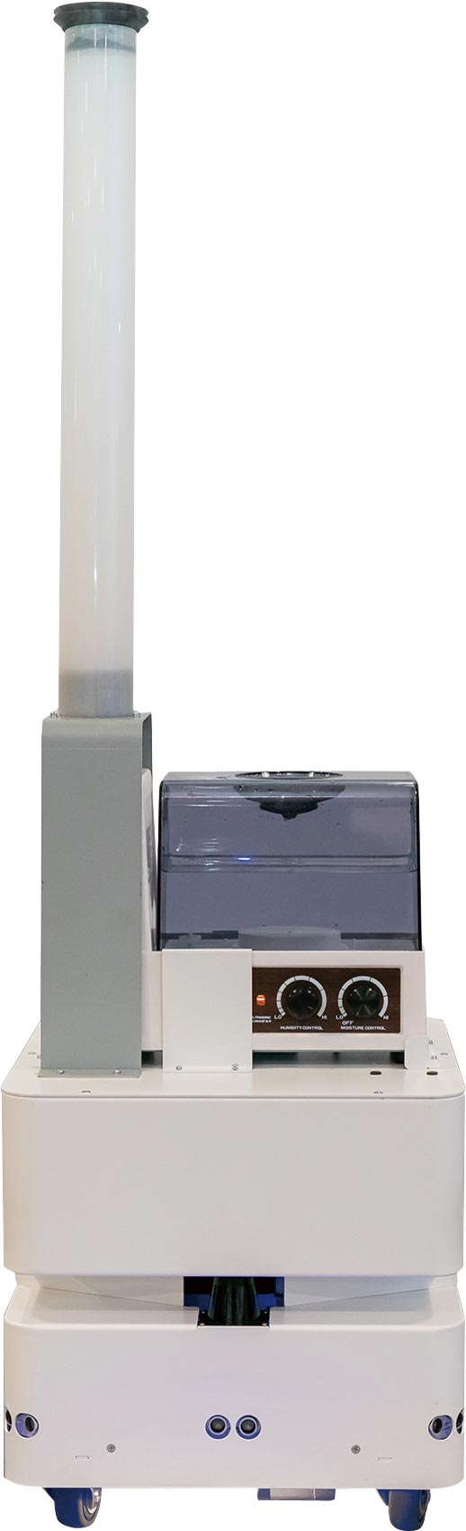 防疫机器人展现东元智慧移动平台(AGV)更多元应用。图/东元提供
