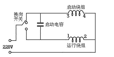 单相电动机正反转接线图